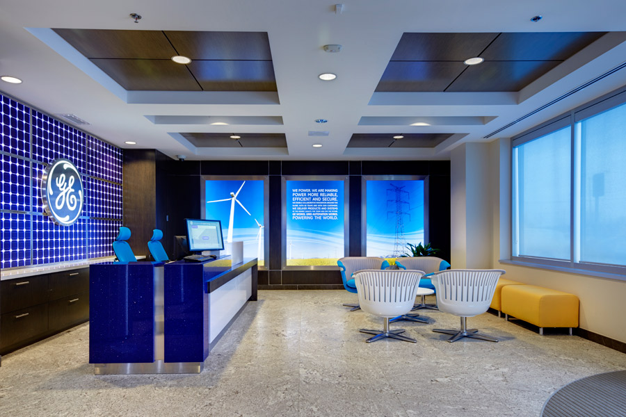 Office Lobby Design Intended Corporate Office By Fdm Designs General Electric Offices